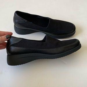 Keds Dalton Slip On Wedge Loafers in Black